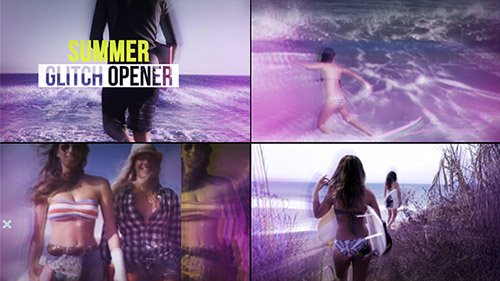 Summer Glitch Opener - Project for After Effects (Videohive)