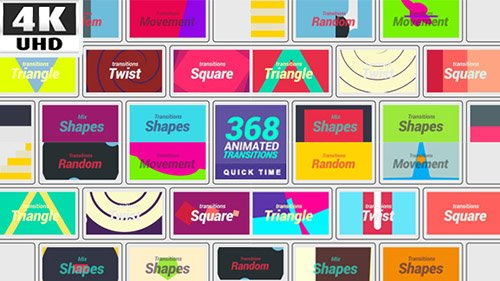 368 Transitions 4K - Motion Graphic (Videohive)