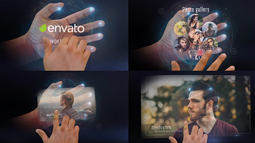 Interactive Hand Hologram Opener - Project for After Effects (Videohive)