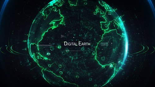 Digital Earth Title - Project for After Effects (Videohive)