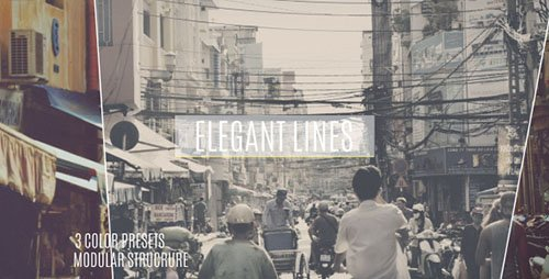 Elegant Lines Slideshow 12095766 - Project for After Effects (Videohive)