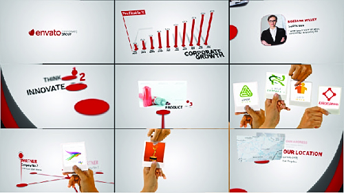 Corporate Profile With Hand Gestures - Project for After Effects (Videohive)