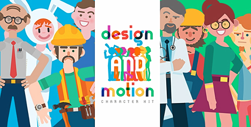 Design and Motion Character Kit - Project for After Effects (Videohive)