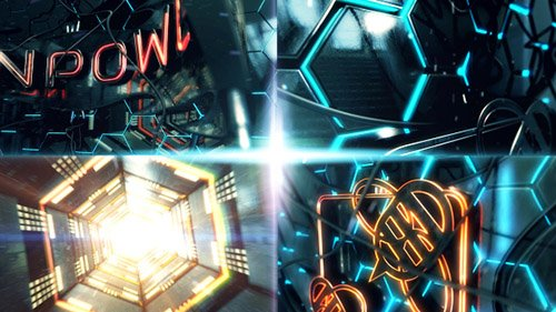 Neon Power Logo Opener - Project for After Effects (Videohive)