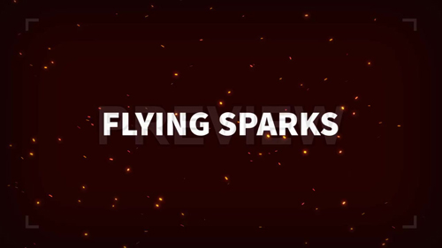 футажи-Flying Sparks Motion Graphic