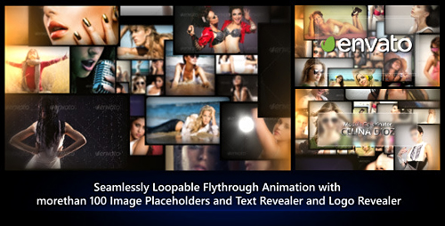 Photos Galaxy - Loopable Flythrough Animation - Project for After Effects (Videohive)