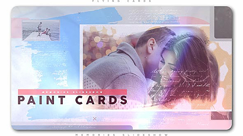 Painted Cards of Memories Slideshow - Project for After Effects (Videohive)
