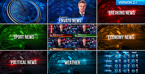 Broadcast Design News Package - Project for After Effects (Videohive)