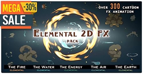 Elemental 2D FX pack [300 elements] - Motion Graphic (Videohive)