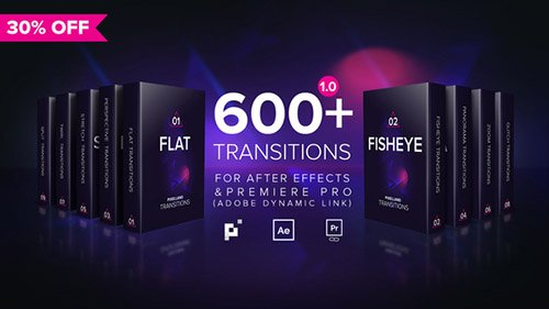 Pixelland transitions Pack - Project for After Effects (Videohive)