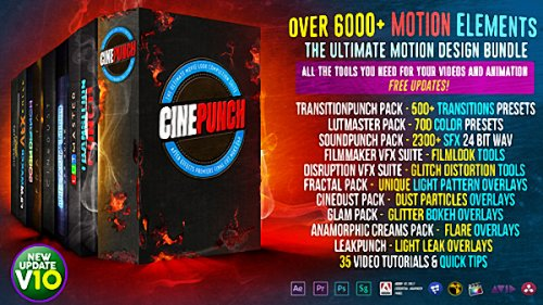 CINEPUNCH V10 - 6000+ Elements and Growing! - After Effects Add Ons & Project (Videohive)