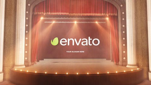 Theatre Curtain Logo - Project for After Effects (Videohive)