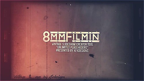 8mm Slideshow Creator Tool For Vintage Film Look - Project for After Effects (Videohive)