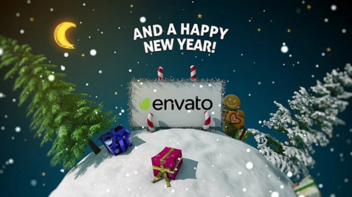 New Year card 3D - Project for After Effects (Videohive)