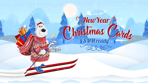 Christmas New Year Cards (SMM Ready) - Project for After Effects (Videohive)