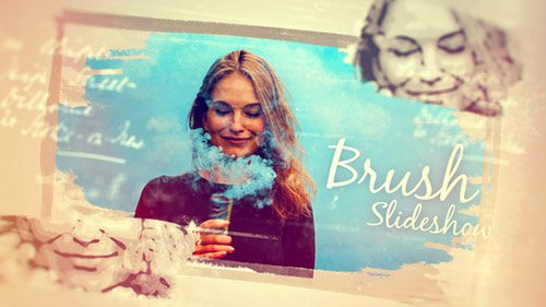 Hand Drawn Photo Brush Slideshow - Project for After Effects (Videohive)