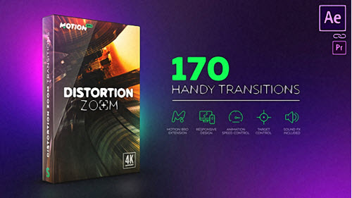 Distortion Zoom Transitions - Project for After Effects (Videohive)