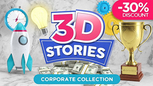 3D STORIES | Icons Explainer Toolkit - Project for After Effects (Videohive)