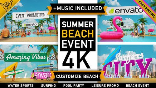 Summer Beach - Holiday Resort Party Event - Project for After Effects (Videohive)