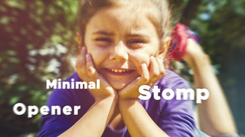 Minimal Stomp Opener - Project for After Effects (Videohive)