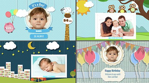 Baby Photo Album - Birthday - Project for After Effects (Videohive)