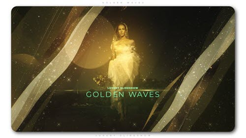 Golden Waves Luxury Slideshow 23259551 - Project for After Effects (Videohive)