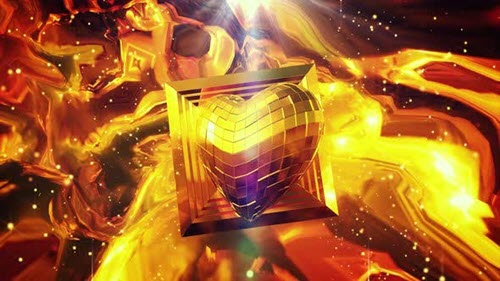Disco Vj Golden Heart 4k - 25425985 - Motion Graphics (Videohive)
