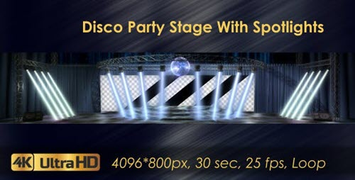 Disco Party Stage With Spotlights - 20924365 - Motion Graphics (Videohive)