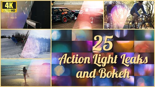 25 4K Action Light Leaks and Bokeh - 21357857 (Videohive)