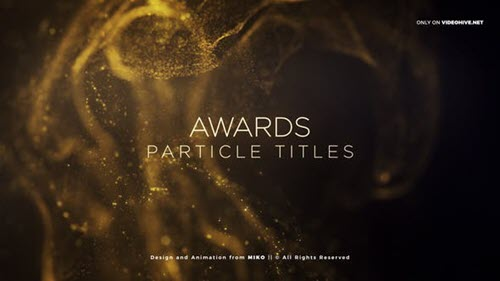 Awards Particles Titles - Project for After Effects (Videohive)
