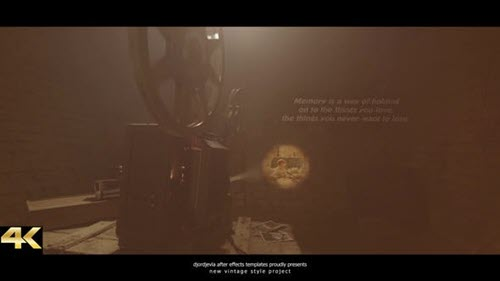 Vintage Memories - Film Projector 2 - 27068490 - Project for After Effects - Videohive