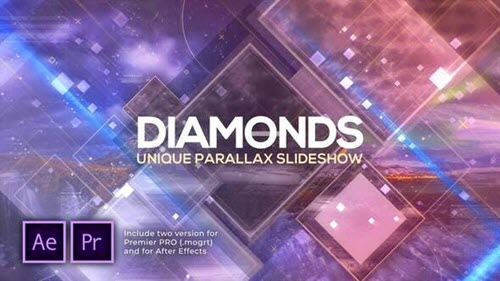 Diamonds Unique Parallax Slideshow - 28520468 - Premiere Pro & After Effects Templates