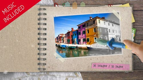 Kids Color the Photo Album - 7167668 - Project for After Effects