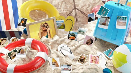 Photo Gallery on Summer Beach - 33088877 - Project for After Effects