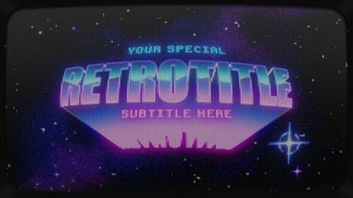 Retrowave Intro - 32605111 - Project for After Effects