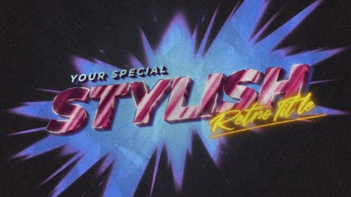 80s Retro Opener Title & Logo - 33851499 - Project for After Effects