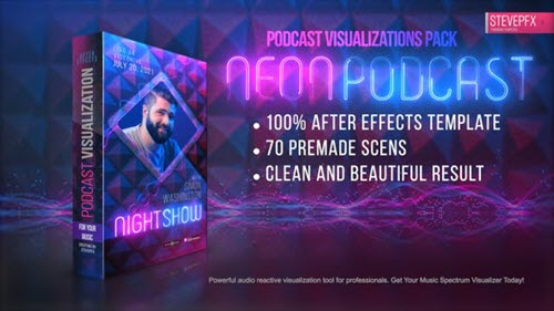 Neon Podcast | Audio and Music Visualizations Tool V01 - 33321636
